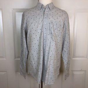 Old Navy Men's Gray Long Sleeve Button Down Shirt
